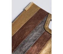 Shopper aus Leder in Mehrfarbigem Metallic-Leder