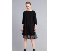 Kleid aus Interlock-Jersey mit Flockknöpfen