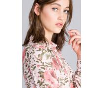 Bluse aus Viskose mit Rosenprint