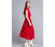 Langes Plissiertes Georgette-Kleid