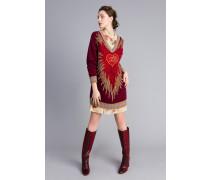Kleid Aus Wollmischung In Jacquardverarbeitung