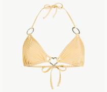 Triangel-Bikinitop Mit Streifen