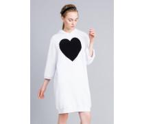 Kleid aus Baumwolle mit Flockherz