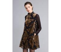 Kurzes Kleid aus Dévoré-Samt