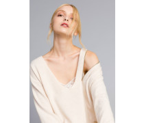 Maxi-Pullover mit Unterkleid