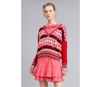 Pullover Mit Jacquardherzen