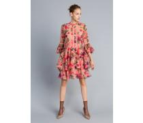 Kleid aus Chiffon mit Blumenprint