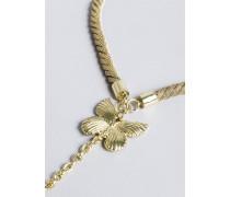 Halskette aus Metall mit Anhänger