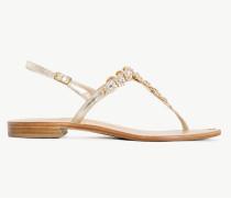 Twinset Sandalette Mit Strasssteinchen