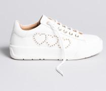 Sneakers Aus Leder Mit Herzen