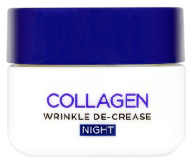 Dermo-Expertise Wrinkle De-Crease Collagen Re-Plumper Night Cream with Collagen 50ml