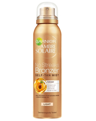 Ambre Solaire No Streaks Bronzer Dry Body Mist - Light Glow 150ml