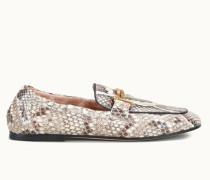 Loafers aus Pythonleder