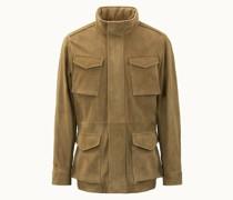 Field Jacket aus Veloursleder