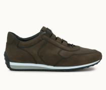 Sneakers aus Spaltleder