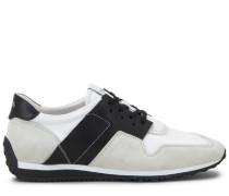 Sneakers aus Veloursleder und technischem Gewebe