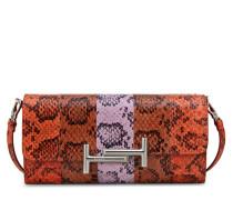 Portemonnaie aus Leder und Reptilienleder