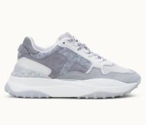 Sneakers aus Nubukleder und Filz