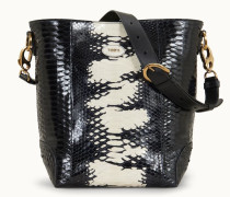 Kleine Handtasche aus Pythonleder