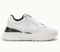 Sneakers aus Leder und Nubukleder