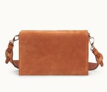 Crossbody-Tasche aus Veloursleder