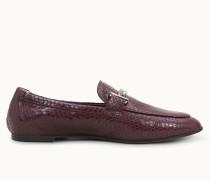 Loafer aus Leder mit Reptil-Prägung