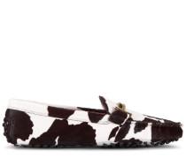 Gommino Mokassins aus Leder in Ponyfell-Optik