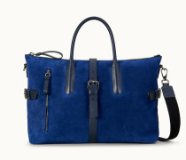 Reisetasche aus Veloursleder
