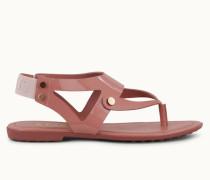 Sandalen aus Leder und Lackleder