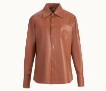 Bluse aus Leder