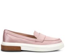 Loafers aus Seidensatin