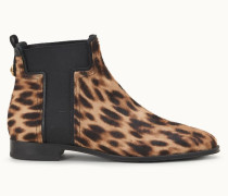 Chelsea Boots aus Leder in Ponyfell-Optik