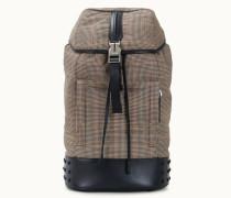 Rucksack aus Stoff und Leder