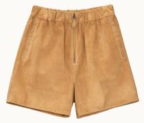 Shorts aus Veloursleder