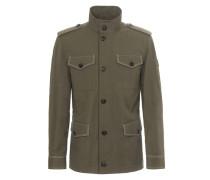 Field Jacket aus Baumwolle und Leinen