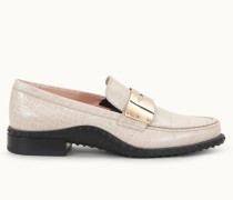 Loafer aus Leder mit Kroko-Prägung