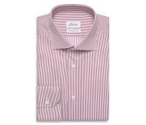 Formelles Hemd in Bordeauxrot und Weiß mit Streifenmuster