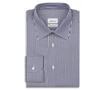 Formelles Hemd mit Streifenmuster in Marineblau und Weiß