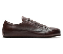 Dunkelbraune Sneakers aus Nappaleder