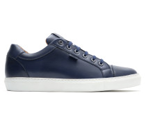 Marineblaue Sneakers aus Kalbsleder