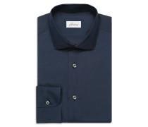 Marineblaues Seidenhemd