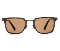 Night & Day rechteckige Sonnenbrille im Retro-Stil in dunklem Havanna