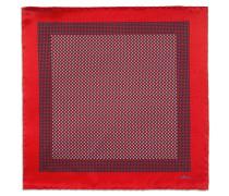 Einstecktuch in Rot und Marineblau mit Micro-Muster