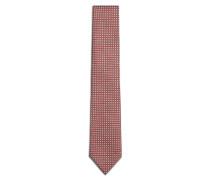 Bordeauxrote Krawatte mit Micro-Muster