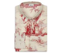 Weißes Hemd mit Print