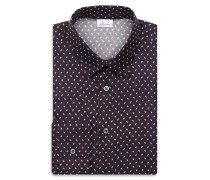 Marineblaues Hemd mit rotem Paisley-Muster