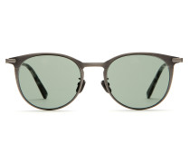 Panto-Sonnenbrille in Titansilber