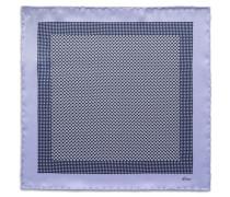 Einstecktuch in Violett und Marineblau mit Micro-Muster