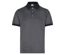 Anthrazitgraues Poloshirt aus Jacquard