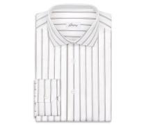 Hemd mit Streifenmuster in Weiß und Braun